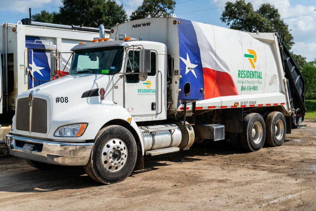 Residential Recycling and Refuse of Texas RRRTX Garbage Truck