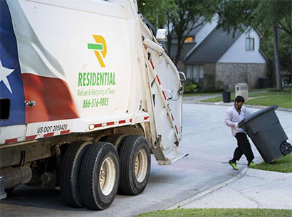 RRRTX Residential Recycling and Refuse of Texas worker appreciation, garbageman working