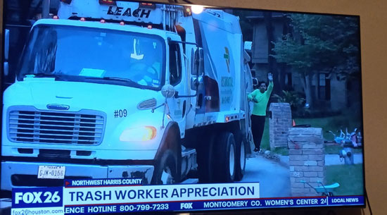 RRRTX Residential Recycling and Refuse of Texas worker appreciation viewing on Fox 26 news