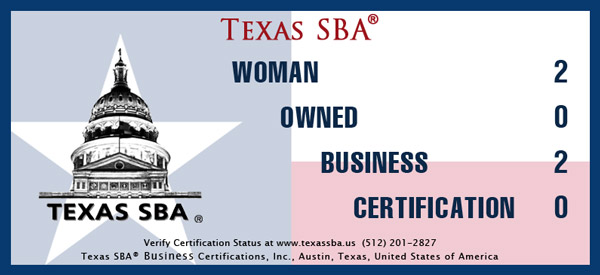 Texas SBA Woman Owned Business RRRTX decal