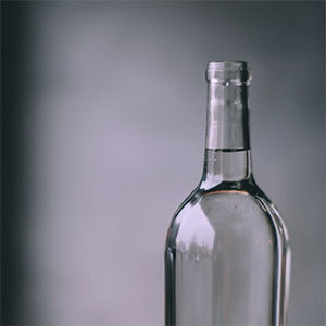 Glass wine bottle RRRTX recycling services