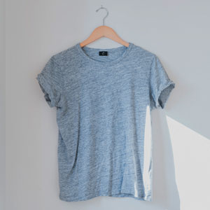Tshirt with recycled plastic